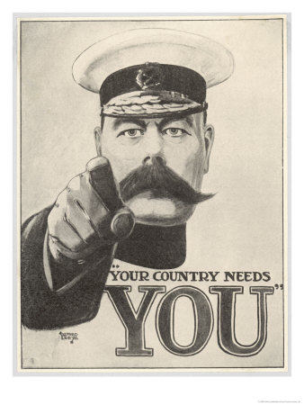 Your Country Needs You, Featuring Lord Kitchener Premium Giclee Print by Alfred Leeze