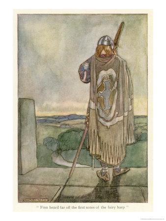 Finn Hears the Fairy Harp Exklusivt gicléetryck av Stephen Reid