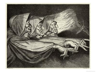 Las maldiciones en las obras teatrales Lorsay-macbeth-the-witches