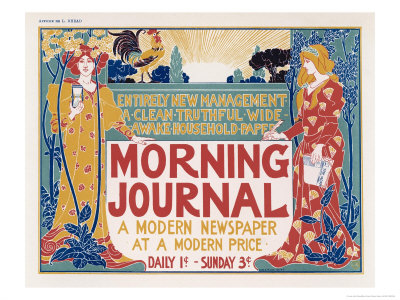 Poster for the Morning Journal New York, a Modern Newspaper at a ...