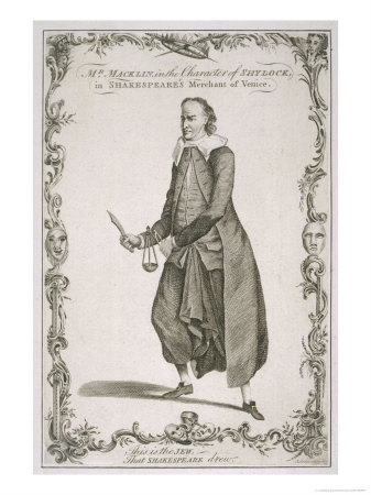 Charles Macklin Actor in the Role of Shylock in the Merchant of Venice Premium Giclee Print by J. Lodge