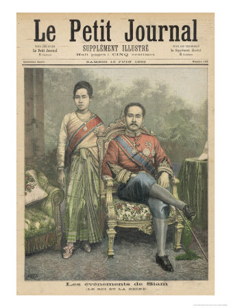 Rama V Known as Chulalongkorn King of Siam and His Wife Giclee Print