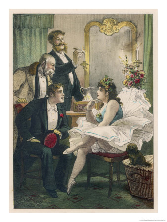 Dancer Entertains Three Devotees of Her Art in Her Dressing Room Giclee Print by D. Eusebio Planas