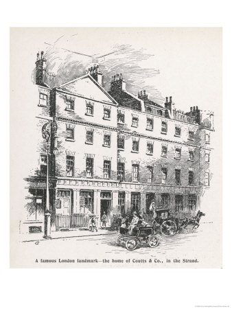 The Home of the Bank Coutts and Co in the Strand London Giclee Print by Percy Hickling