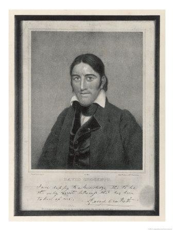 Davy Crockett American Backwoodsman Hunter Magistrate and Legislator Giclee Print by S.s. Osgood