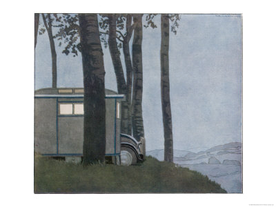 Caravan at Nightfall Giclee Print by Andre Marty