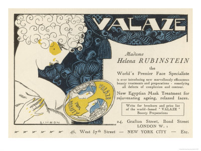 Advertisement for Helena Rubinstein's Valaze Beauty Cream Premium Giclee Print by  Simeon