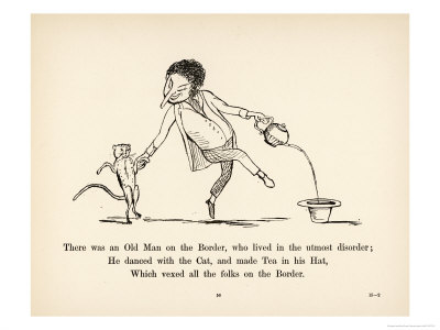 There was an Old Man on the Border Who Lived in the Utmost Disorder Premium Giclee Print by Edward Lear