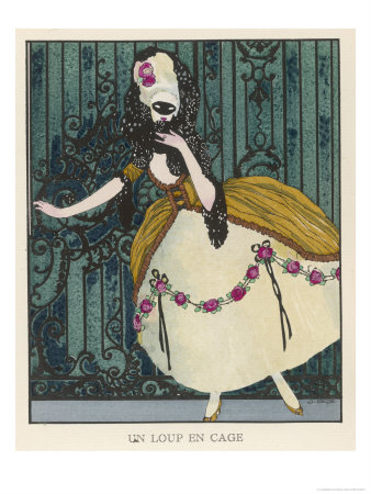 18th Century Costume for a Masked Ball Premium Giclee Print by J. Gose