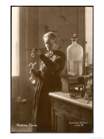 Marie Curie Physical Chemist in Her Laboratory Premium Giclee Print
