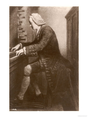 Johann Sebastian Bach German Organist and Composer at the Keyboard Giclee Print