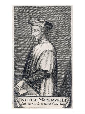Niccolo Machiavelli Italian Political Theorist Premium Giclee Print