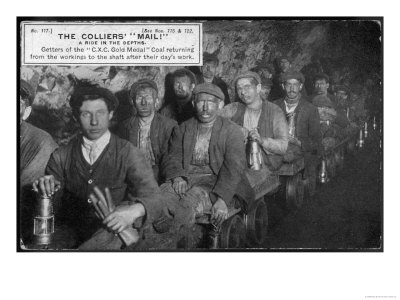 Colliers, Getters of the Coal, at the End of the Shift at Clay Cross Mine Giclee Print