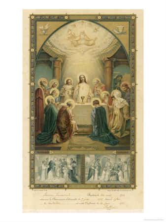 Jesus and His Disciples at the Last Supper Premium Giclee Print