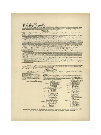 Constitution of the United States Giclee Print