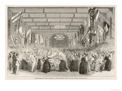 Entertainment for the Patients at the Middlesex Lunatic Asylum Colney Hatch Premium Giclee Print