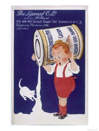 Frisian Girl Sweetened Condensed Milk Giclee Print