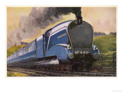 """The London and North Eastern Railway's """"Coronation"""" Express Giclee Print"""