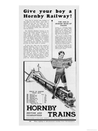 An Advertisement for Hornby Model Train Sets Giclee Print