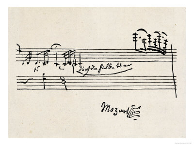 Cadenza, with Mozarts Signature Premium Giclee Print