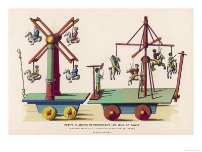 French Toys of Fairground Amusements Giclee Print