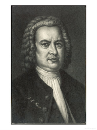 Johann Sebastian Bach German Organist and Composer Giclee Print!