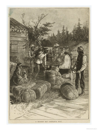 Trading Post of the Hudson's Bay Company Canada Giclee Print