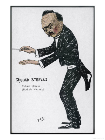 Richard Strauss German Musician Conducting Giclee Print