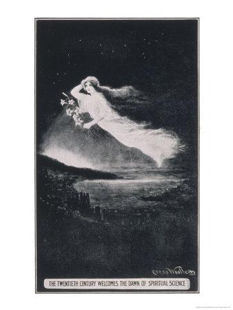 The Twentieth Century Welcomes the Dawn of Spiritual Science Premium Giclee Print by Cress Woollett