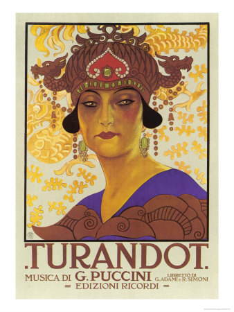 Portrait of Princess Turandot reproduction procédé giclée