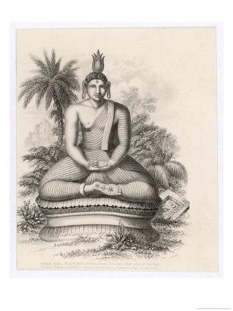 Siddhartha Gautama the Buddha, Statue of the Seated Buddha Giclee Print by Andrew Thom