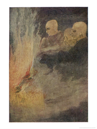 The Death of Siddhartha Gautama Known as the Buddha, The Final Release Premium Giclee Print by Abanindro Nath Tagore