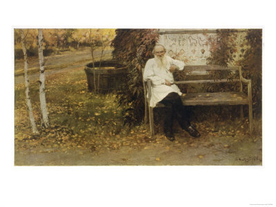 Leo Tolstoy the Russian Novelist About a Year Before His Death Premium Giclee Print