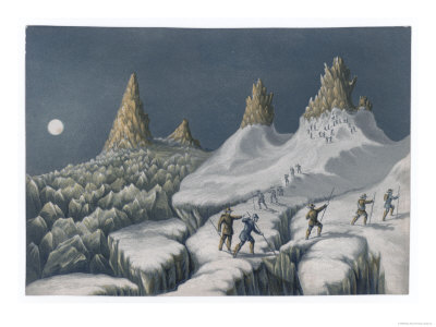 Ascent Mont Blanc Giclee Print