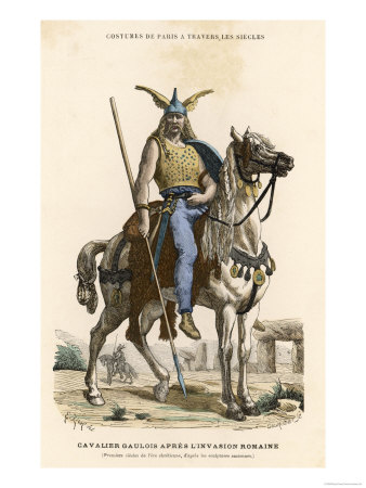 Gallic Horseman Armed with Sword and Spear at the Time of the Roman Invasion of Gaul Giclee Print
