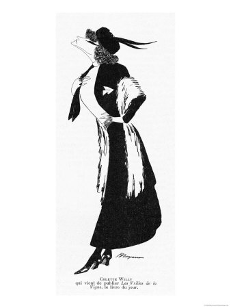 Sidonie-Gabrielle Willy French Novelist: a Caricature Giclee Print