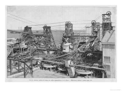 Washing Equipment for the Diamonds of de Beer's Mines in South Africa Premium Giclee Print