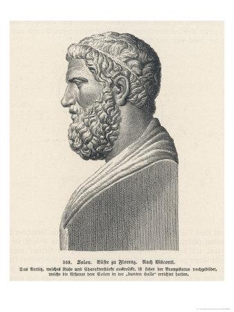 Solon Greek Statesman and Lawgiver Giclée-Premiumdruck von L. Visconti