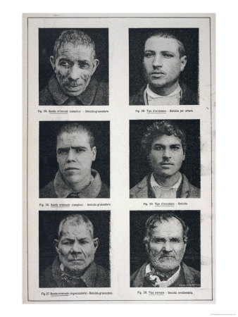 Photographs of Murderers Whose Criminal Nature Lombroso Believed is Revealed in Their Physiognomy Giclee Print