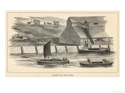 Staith from Which Coal is Being Transferred onto Barges on the River Tyne North-East England Premium Giclee Print