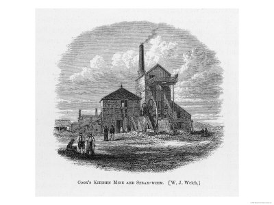 Richard Trevithick Senior's Steam-Whim at Cook's Kitchen Mine Cornwall Giclee Print