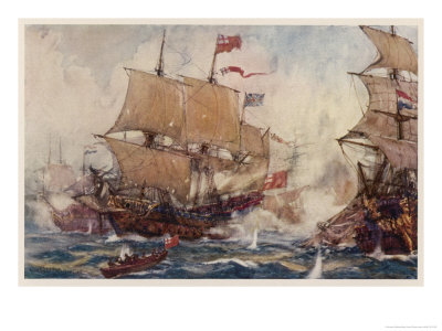 Naval Combats of the 17 and 18th Centuries Involve Numbers of Ships Giclee Print