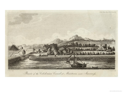 Basin of Caledonian Canal at Muirtown Near Inverness Giclee Print by J. Swaine