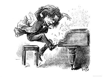 Anton Rubinstein Over-Enthusiastic Pianist Plays a Tune Premium Giclee Print