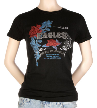 Juniors: The Eagles - Vintage w/Foil Rose Crest Camiseta