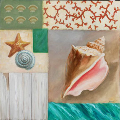 Shell Collage II Posters by David Marrocco