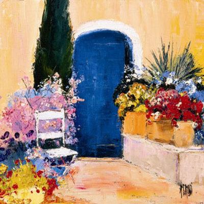 La Porte Bleue Prints by Anne-marie Grossi
