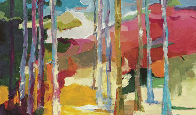 Spring Forest I Collectable Print by Barbara Rainforth