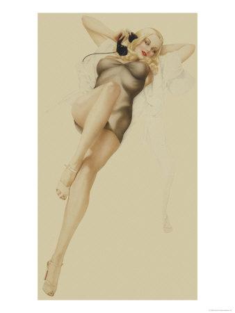 Varga Girl, October 1940 Prints by Alberto Vargas