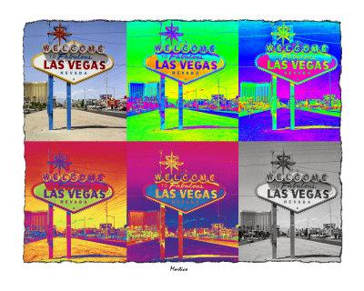 las vegas sign. Warhol Las Vegas Sign Giclee